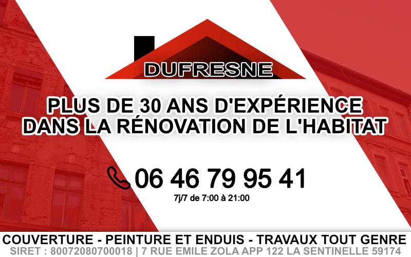 couvreur valenciennes Dufresne rénovation